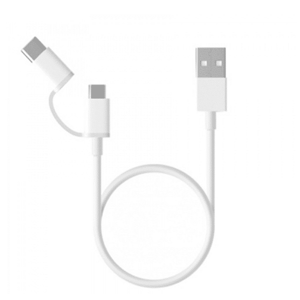 Xiaomi 2 in 1 Type-C Micro USB Data Cable - 30cm
