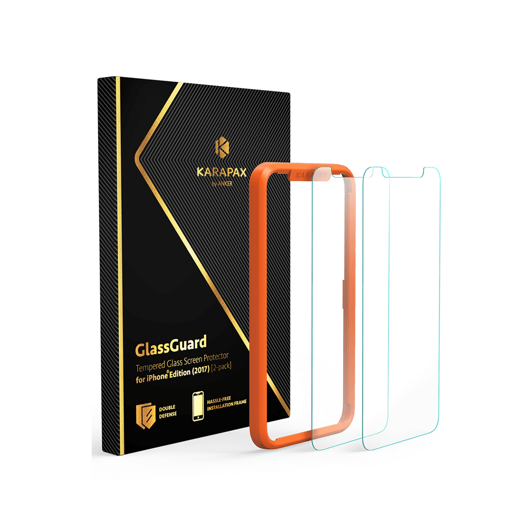size 40 75ab3 d79f4 Anker KARAPAX Tempered Screen Protector for iPhone X [2 Pack]