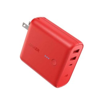 Anker-PowerCore-Fusion-5000mAh-Portable-Power-Bank-and-Wall-Charger-Red