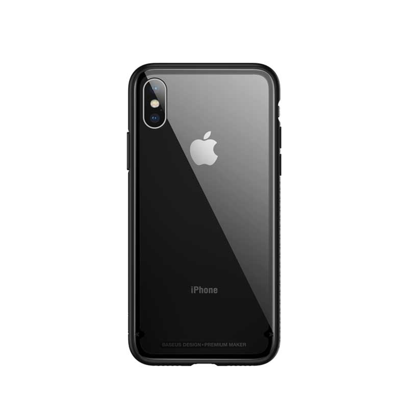 Baseus See-through Glass Protective Case for iPhone X/10