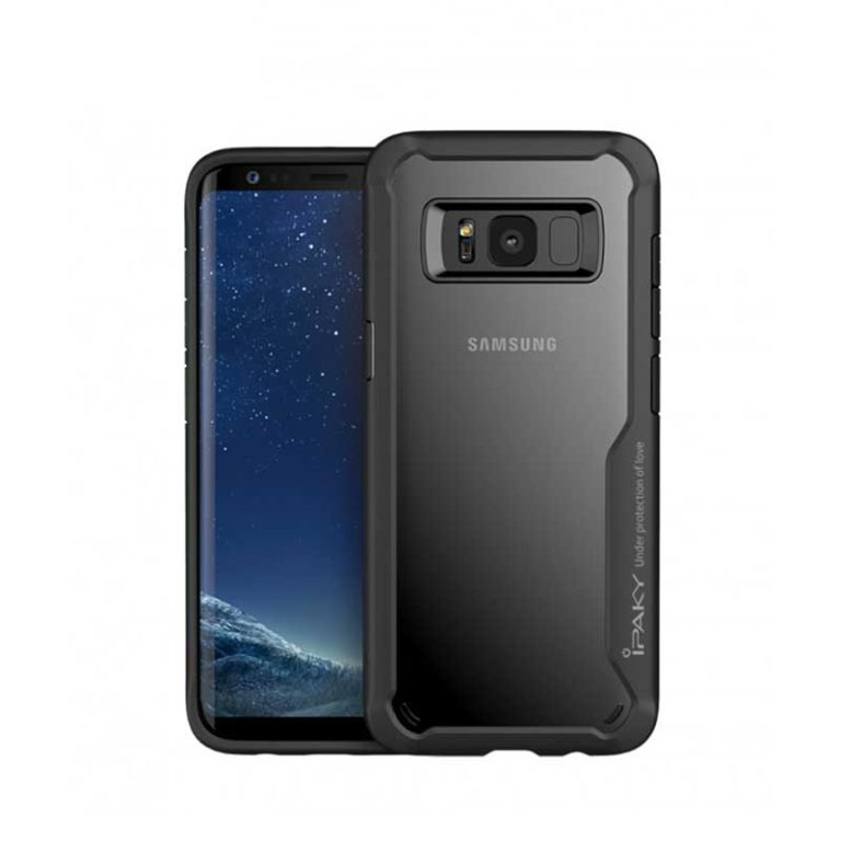 IPAKY Samsung Galaxy S8 Transparent Back Armor Case
