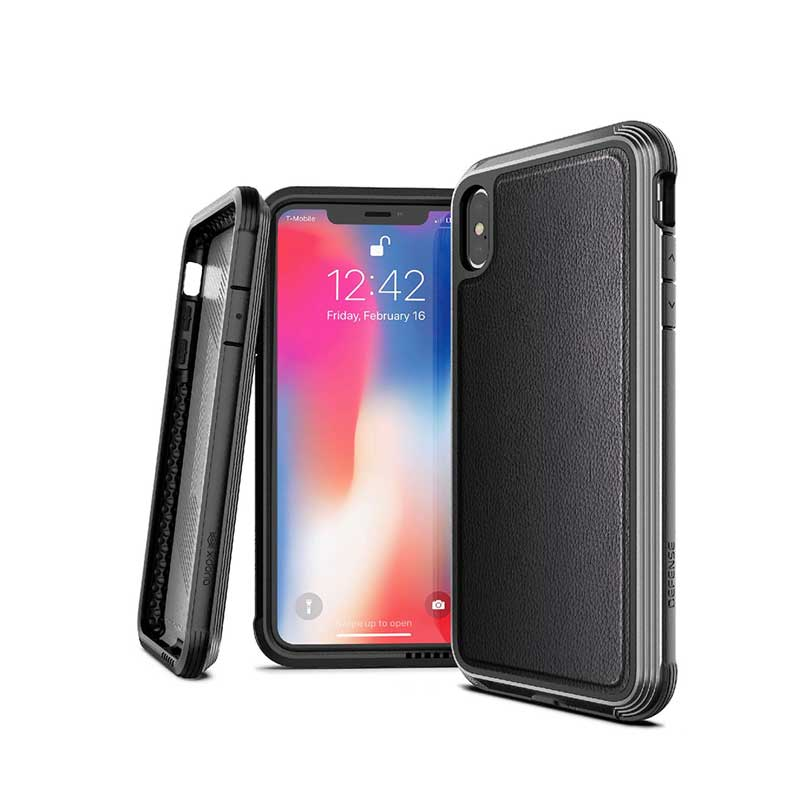 X-Doria iPhone XS Max Defense Lux Case -Black Carbon