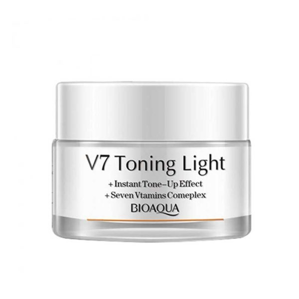 BIOAQUA V7 Toning Light Cream Whitening Skincare Moisturizing Face Cream - 50gm