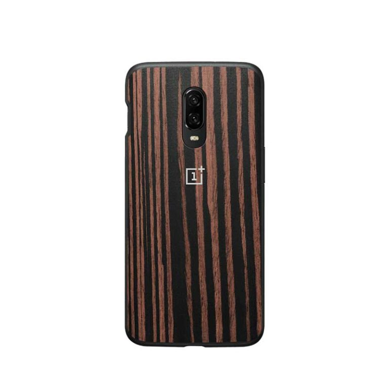 OnePlus 6T Ebony Wood Bumper Case