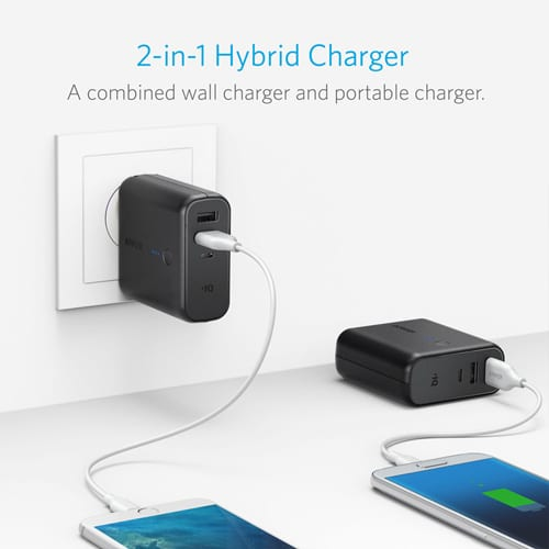 Anker-PowerCore-Fusion-5000mAh-Portable-Power-Bank-and-Wall-Charger---Black-2