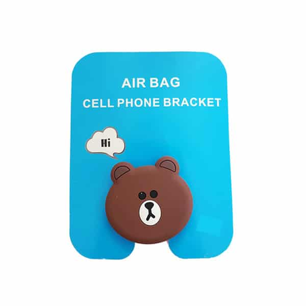 Brown Bear Air Bag Cell Phone Bracket Popsockets Phone Grip and Stand