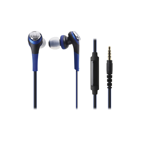 Audio-Technica-ATH-CKS550iS-Solid-Bass-In-Ear-Headphones-with-In-line-Mic-&-Control-Blue