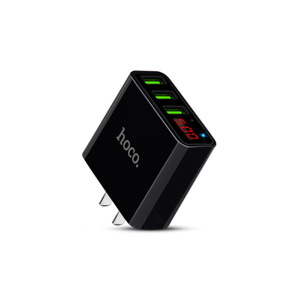 Hoco C15 3 USB Charging Adapter with LED Display