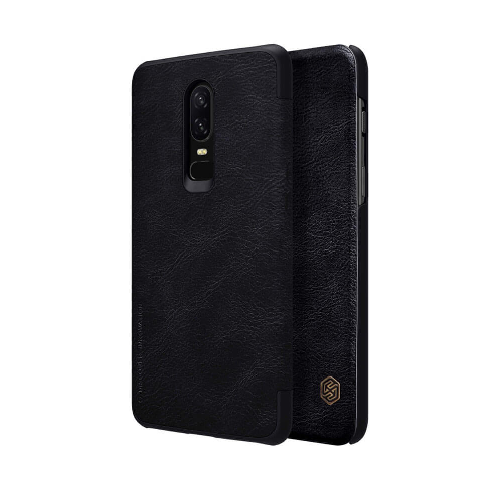 check out 97012 a4046 Nillkin OnePlus 6 Qin Flip Case - Black