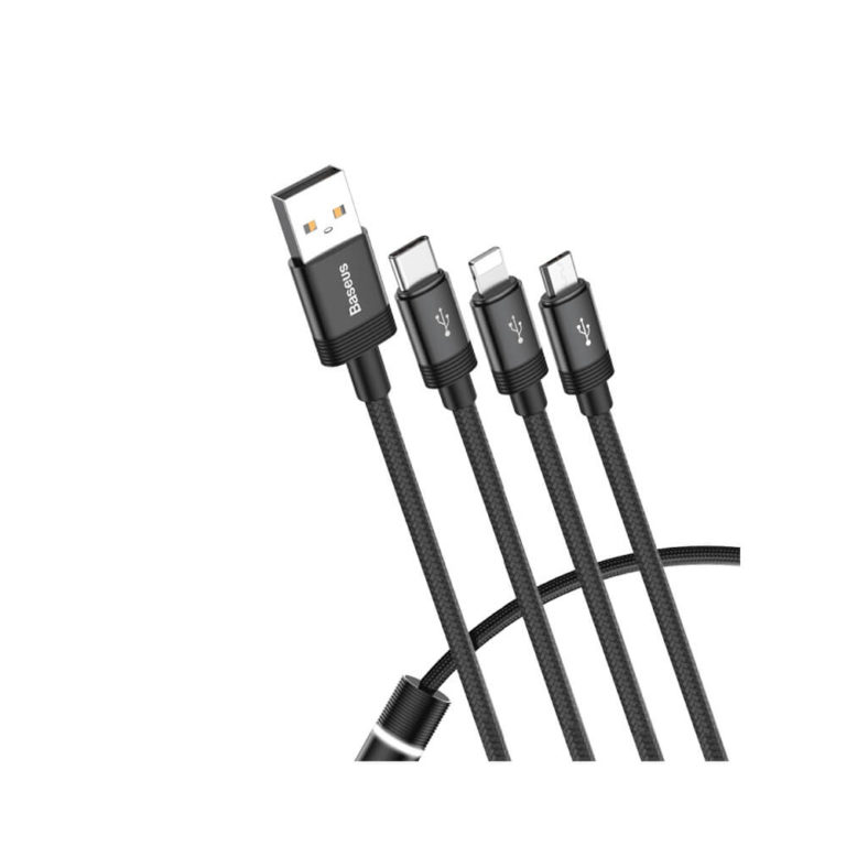 Baseus Data Faction 3-in-1 Cable penguin.com.bd