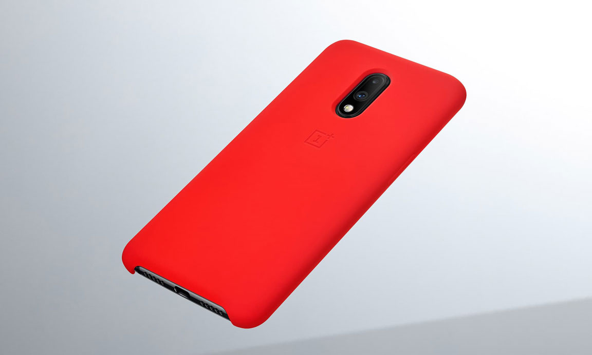 meet 402c9 cc214 OnePlus 7 Silicone Protective Case Red