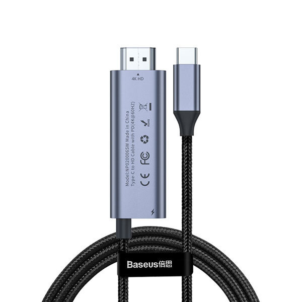 Baseus C Video Pro Type C to 4K HD + PD Adapter Cable 1.8m