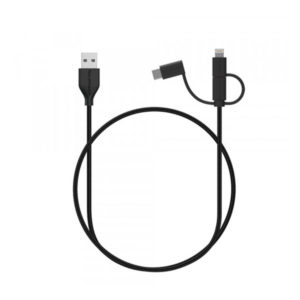 RAVPower 3 in 1 Nylon Braided Cable 3ft/1m (RP-CB021)
