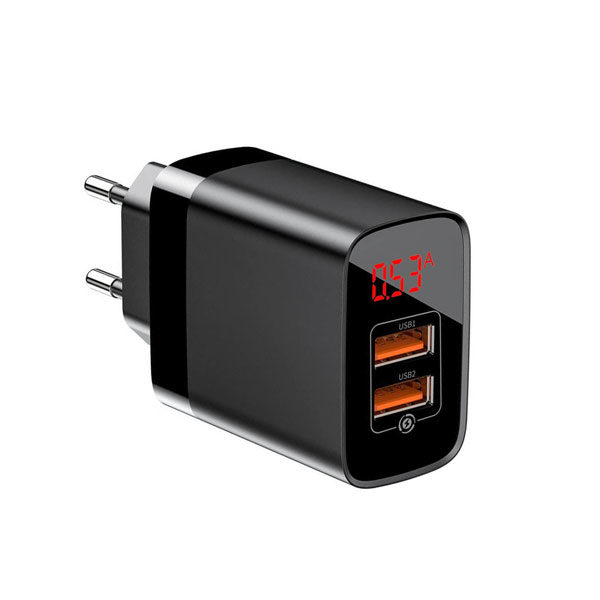 Basues Mirror PPS Quick Charge 18W Dual USB Wall Charger