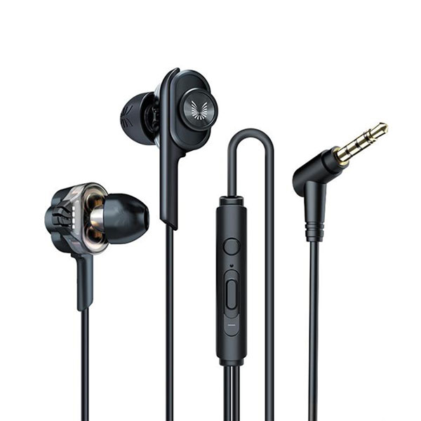 UiiSii T6J Dual Dynamic Drivers Earphones With Mic