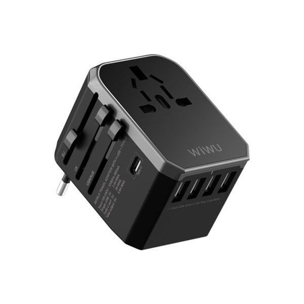 WIWU UA-301 Global Conversion Charger (Type-C + 4 USB Output)