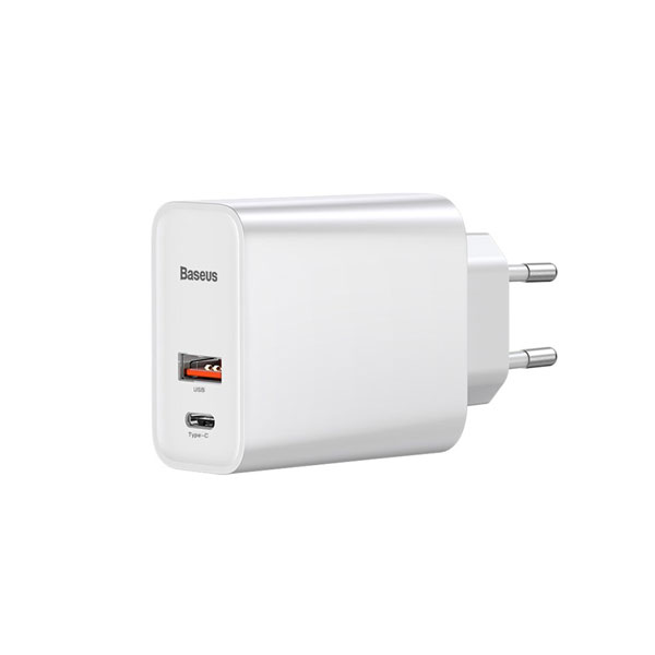 Baseus Speed PPS 30W Quick Charger with 1M C To C Cable EU White (TZCAFS-A02)
