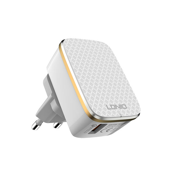 LDNIO A1204Q Quick Charge 3.0 Fast Charging Travel Charger with Micro USB Cable