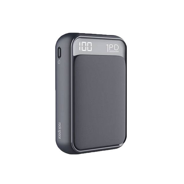 Rock Space P65 10000mAh Mini PD Power Bank with LED Display