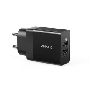 Anker PowerPort 2 Lite Dual USB Wall Charger (A2129) - Black