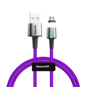 Baseus Zinc Magnetic 1.5A Cable USB For Micro 2M (CAMXC-G05) - Purple