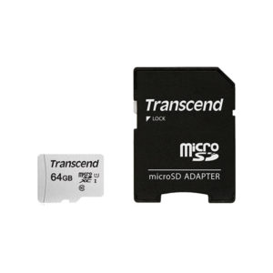 Transcend 64GB UHS-I microSD 300S Memory Card With Adapter (1)