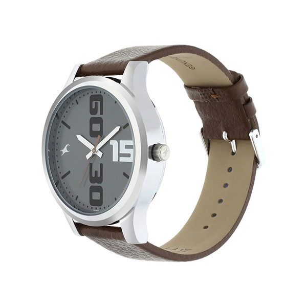 Fastrack NM38051SL05 Bold Brown Leather Analog Watch (3)