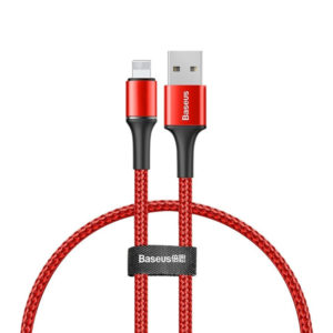 Baseus Halo Data Cable USB For iP 2.4A 1M (CALGH-B09) - Red