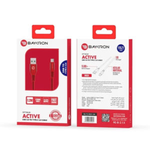 Baykron Cable USB A to Type C 1.2M 3A (20-005022) - Red