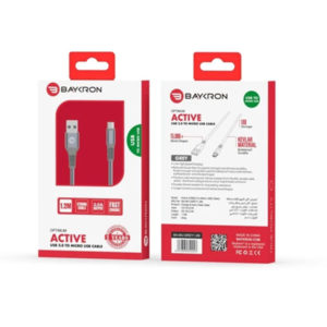 Baykron Cable USB To Micro 1.2M (20-005017) Grey