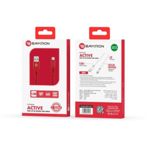 Baykron Cable USB To Micro 1.2M 2A (20-005017) - Red