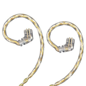KZ C Pin Gold Silver Mixed Braiding Upgrade Cable (Without Mic)