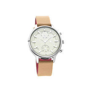Fastrack 6208SL01 Ruffles Bage Dial Leather Strap Women's Watch (5)