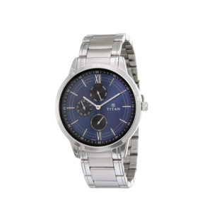 TITAN NM1769SM01 Workwear with Blue Dial & Stainless Steel Strap