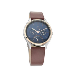 Titan NM1803KL01 Workwear Watch with Blue Dial & Leather Strap
