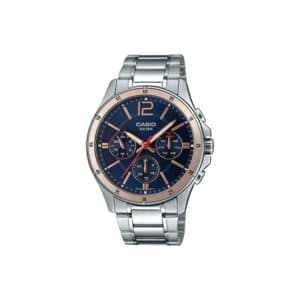 Casio MTP-1374D-2A2V Chronograph Stainless Steel Watch