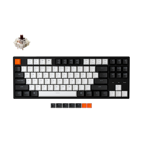 Keychron C1A3 White LED Gateron Brown Wired Mechanical Keyboard